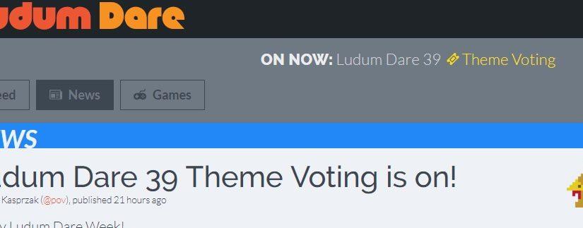 Parteciperò al Ludum Dare 39