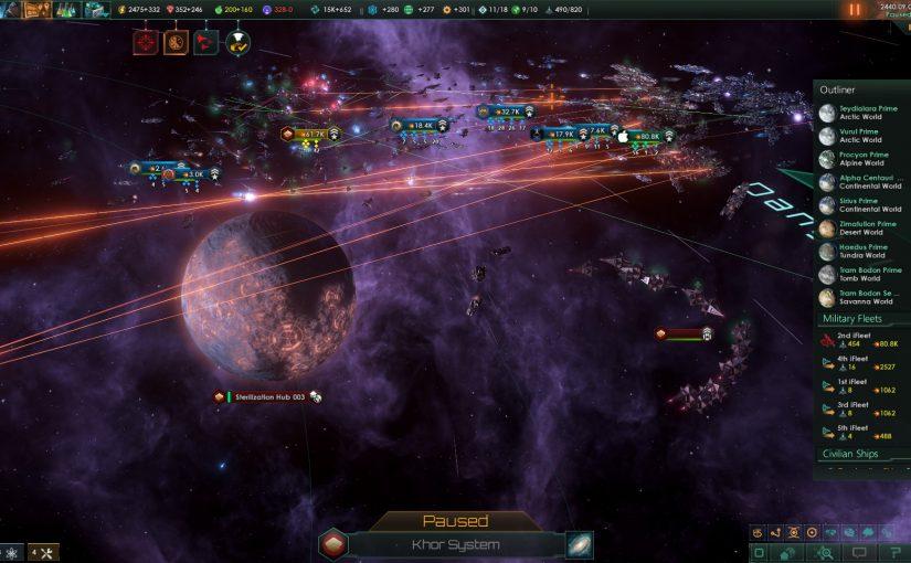 Prima partita a Stellaris: Synthetic Dawn